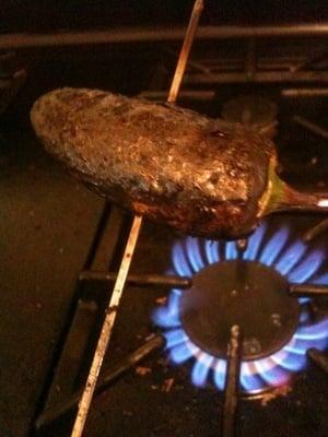 stuffed jalapeno pepper recipe, charring a jalapeno pepper