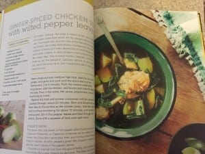 The CSA Cookbook, pepper recipe with leaves