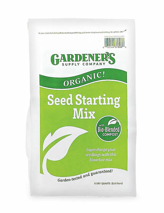 Gardener's Supply seed starting mix