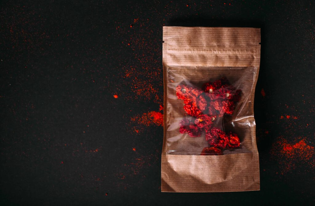 dried carolina reapers in package