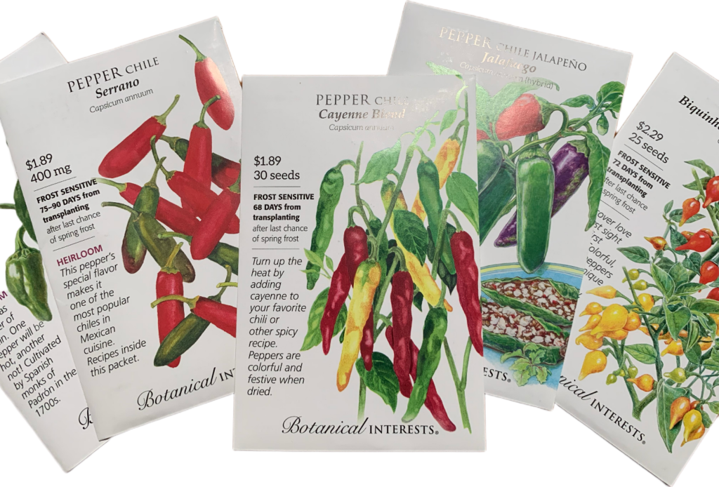 heirloom pepper seeds from Botanical Interests