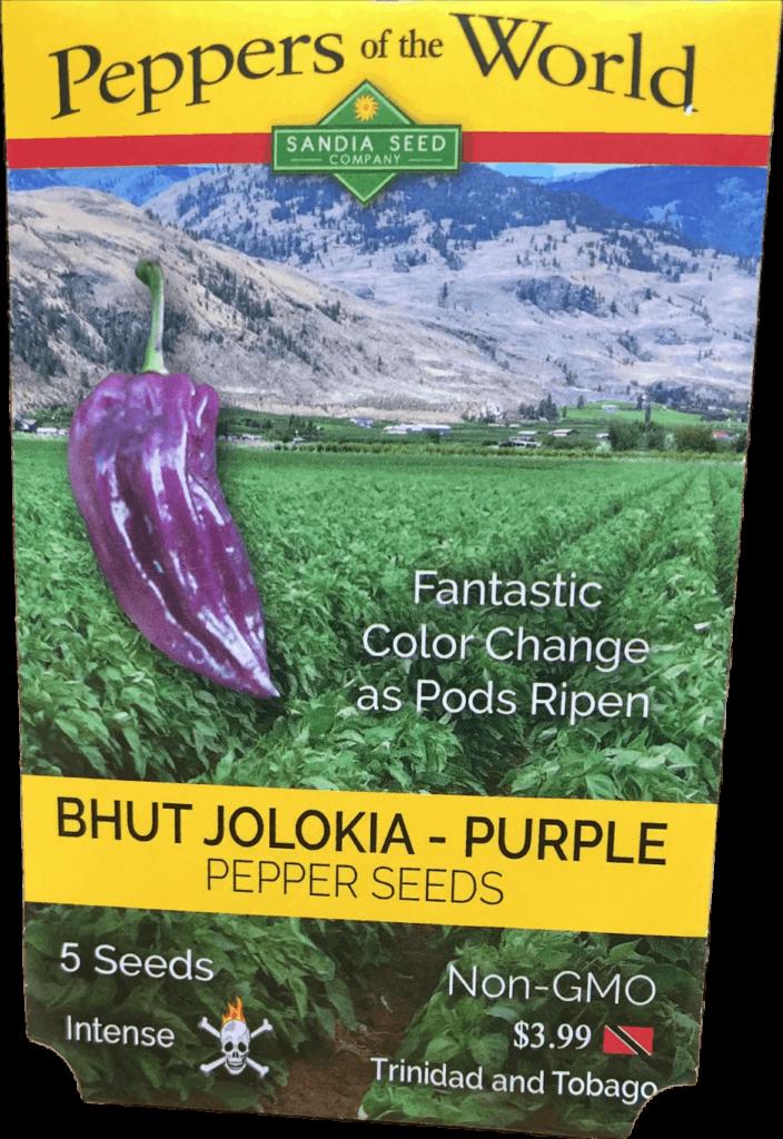 ghost pepper seeds (Bhut Jolokia purple)