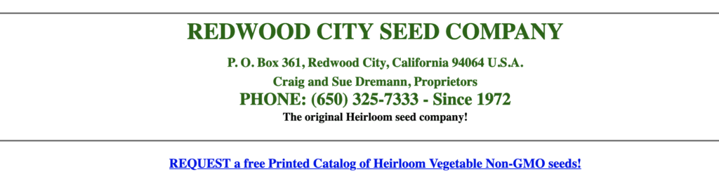 Redwood City Seed Company