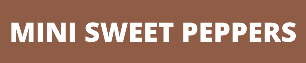 mini sweet peppers banner